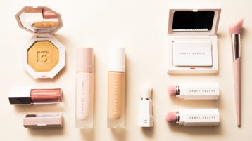 A sample of the products that are included within the makeup line. Caption: Coveteur